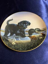 Finders Keepers Danbury Mint 1992 Collectible Plate The Sportsmen Hunting Dog