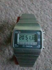 VINTAGE OMEGA LCD DIGITAL WATCH AND OMEGA  BOX
