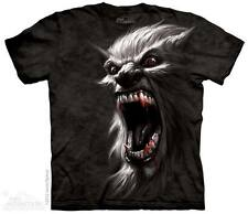 MEN'S T-SHIRT WEREWOLF BATTLE CRY STONEWASHED MULTICOLORED SIZE SMALL