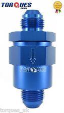 Un -10 (10an 10) azul anodizado Billet aluminio de una manera / válvula de retención