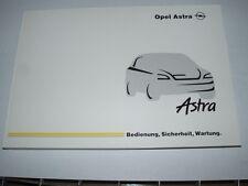Bedienungsanleitung Opel Astra G incl. Cabrio, Ausgabe 02/2002 (neu) #baas0202