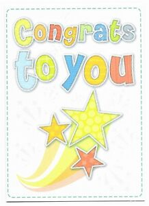 Congrats To You Well Done Greetings Card Kids Friend -UK Made- Her/Him Free P&P