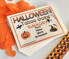 Halloween Taboo Party Games Kids Children Games