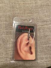 fake earring New D107 Body Rage Illusion Rhinestone