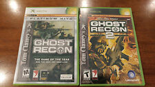 TOM CLANCY'S GHOST RECON 2-PACK, NEAR MINT COMPLETE BUNDLE LOT XBOX MAIL TOMORR