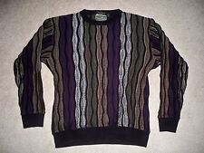 Norm Thompson Sweater 3D Textured Woven Mercerized Cotton Men's Size M Medium