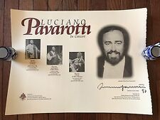 Luciano Pavarotti (3 Tenors) 1997 Tour Concert Autographed / Signed Poster Litho