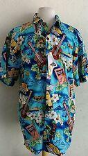Hawaiian button down shirt men's 2XL