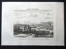 GRAVURE ANCIENNE 19e - DISTRIBUTION DES CROIX DE LA LEGION D'HONNEUR A BOULOGNE