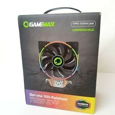 Gamemax Gamma 500 Rainbow Cpu Cooler 120mm LED fan programmable