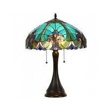 Tiffany Style Stained Glass Table Lamp Victorian Light Shade Base Fixture Bronze
