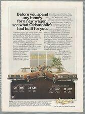 1980 OLDSMOBILE wagon advertisement, Olds CUSTOM CRUISER & Cutlass Cruiser