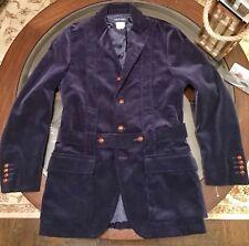 Ralph Lauren Sport Coat Belted Norfolk Corduroy Jacket Windsor Navy Sz Medium