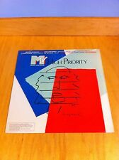 MTV HIGH PRIORITY LP ANDY WARHOL COVER 1987 POP ART FOR BREAST CANCER NEW