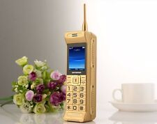 C3 Retro mobile phone Unlocked GSM quad band dual sim gold Super-long standby