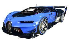 "BUGATTI VISION GRAN TURISMO ""16"" RACING BLUE & CARBON 1/18 CAR BY AUTOART 70986"