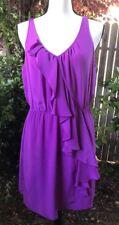 Rebecca Taylor Size 10 Purple Silk Dress Sleeveless