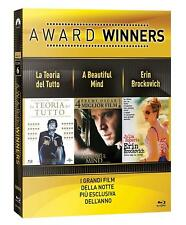 OSCAR COLLECTION: La Teoria del Tutto-A Beautiful Mind-Erin Brockovich 3 BLU-RAY