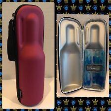 Rabbit WineTrek Portable Insulated Zip Up Wine Bottle Cooler W/ Chiller Wrap (B8