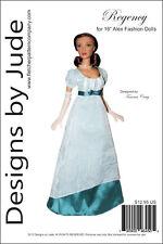 "Regency Doll Clothes Sewing Pattern for 16"" Fashion Alex Dolls Madame Alexander"