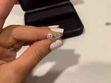 Tiffany & Co Platinum 0.17cts Diamond Soleste Mini Stud Earrings
