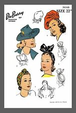 Vintage DuBarry Millinery Turban Beret Hat Fabric material sewing pattern #5016B