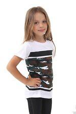 Boys Camouflage Girls Short Sleeved Print T Shirt Kids Tops  Ages 5-12 top vest