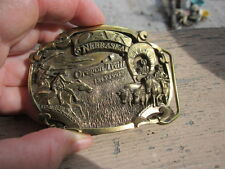 VINTAGE Dart Inc. MINT OREGON TRAIL 1843-1993 BRASS BELT BUCKLE 196 of Ed.of 500