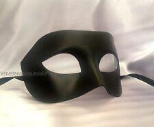 Black White mens masquerade eye mask for man boys simple classic costume fun