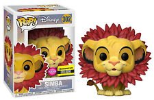 Funko POP! Disney ~ SIMBA w/LEAF MANE FLOCKED EXCLUSIVE ~ Lion King