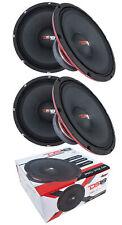 """4x DS18 12"""" Pro Audio Mid Range Loud Speaker Red 3600 Watt 4 Ohm PRO-X12.4M"""