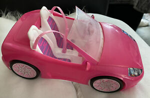Barbie 2010 Pink Convertible Car, Mattel, 2 Seater, Seatbelts, All Stickers