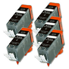 5 BLACK Ink Replacement w/ Chip for PGI-220 Canon iP4700 MP560 MP620 MP640 MX870