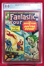 FANTASTIC FOUR #23 (Marvel) PGX 8.0 VF Very Fine - Return of Doctor Doom +CGC!!!