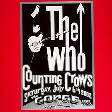 The Who original 2002 Concert Poster. Gorge Washington. R Tuten