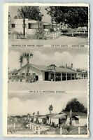 Waycross GA~General Lee Motor Court Art Deco Motel~Roadside Cafe~Cabins~1950 B&W