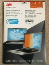 """BRAND NEW 3M GF140W9B Gold Privacy Filter: 14"""" Widescreen Laptop - For Notebook"""
