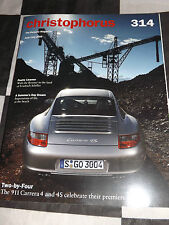 CHRISTOPHORUS PORSCHE MAGAZINE 314 JUNE/JULY 2005 PORSCHE 911 CARRERA 4 718 RS