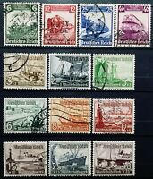 German Empire>1935-37>Used,perf.14>100th.Ann.Railroad & Charity Stamps-Ship.