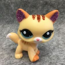 Littlest Pet Shop LPS Loose Toys Sparkle Yellow Kitty Cat S30