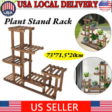 New listing Wooden Multi-tiers Flower Plant Stand Garden Rack Garden Plant Display Storage