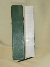 Rare SLIDE RULE FABER-CASTELL  Addiator 111/22 A disponent Germany  CASE!