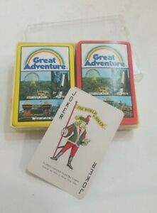 Vintage 1970's Great Adventure Souvenir Playing Cards missing 2 joker & 1 card
