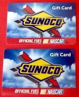 Sunoco NASCAR Official Fuel (x2) Gift Cards Earnhard Hendrick Reload Collectible