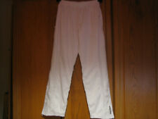 Babolat tennis womens white warm-up pull-on pants M length 30'' waist up to 34''