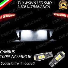 COPPIA LUCI TARGA 9 LED PER HYUNDAI TUCSON T10 W5W BIANCO CANBUS 100% NO ERRORE