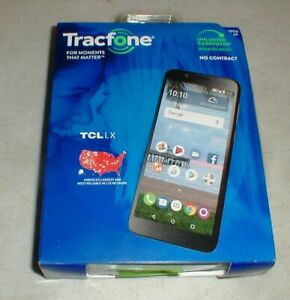 """NEW in Box Tracfone Tcl LX Android Smartphone (16GB) - Black-5.3"""" screen"""