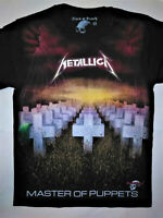 METALLICA T-Shirt RARE Embroidered Logo Master Puppets Ride Lightning Megadeth