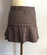 Marc Jacobs mini jupe coton volants grunge Marc Jacobs mini skirt rivets studs
