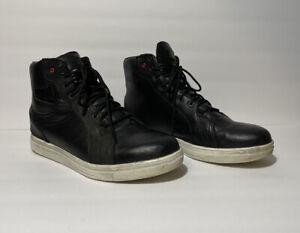 TCX Street Ace Black Leather Waterproof Motorcycle 9400W Shoe Boot  SZ 11